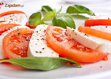 Pomidory z mozarellą
