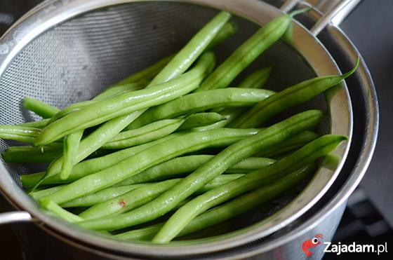fasolka szparagowa gotowana na parze
