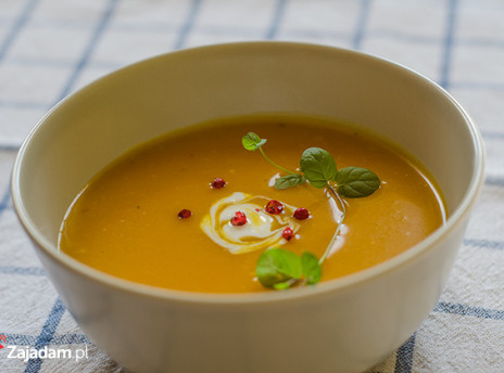 zupa dyniowa - dynia pieczona