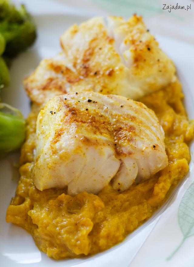 pieczony dorsz curry dynia