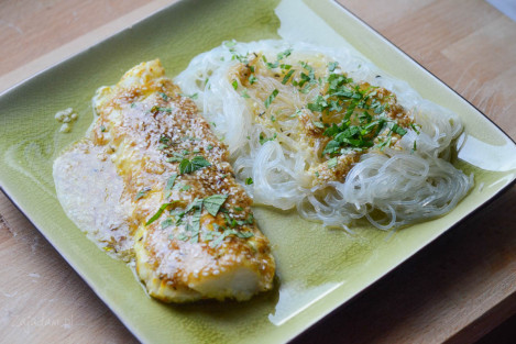 Orientalny dorsz w sezamie