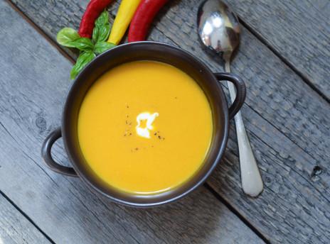 zupa dyniowa na mleku kokosowym