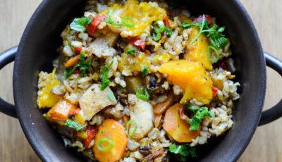 Zapiekanka ryżowa z dynią