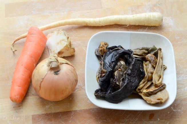 Zupa grzybowa - składniki