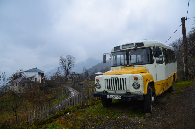 Gruzja - wieś Gobroneti w regionie Adżaria
