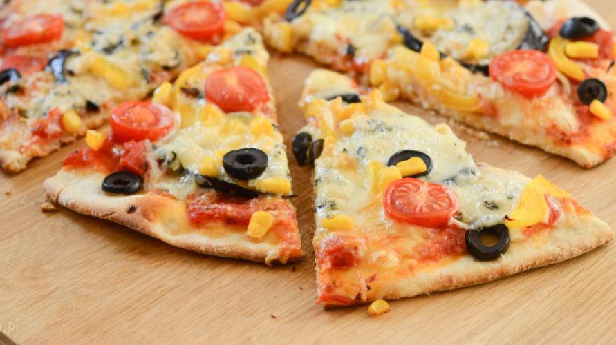 Pizza wegetariańska z bakłażanem