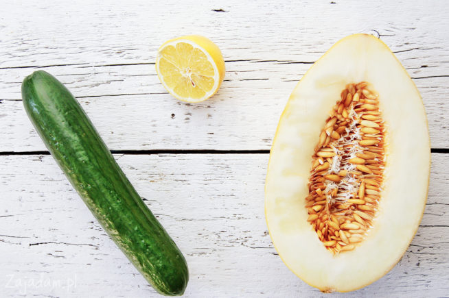 Koktajl z melona i ogórka