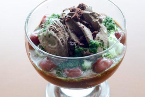 Lodowy deser czekoladowy - brownie