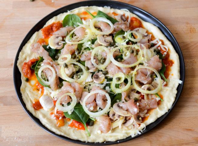 Pizza z kurczakiem - przepis