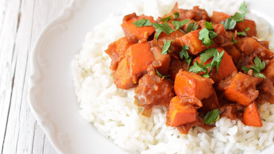 Pikantne curry z dyni