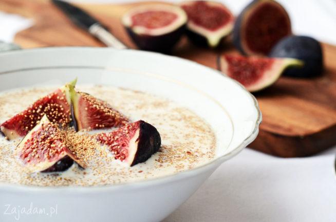 Pomysł na śniadanie - amarantus z figą