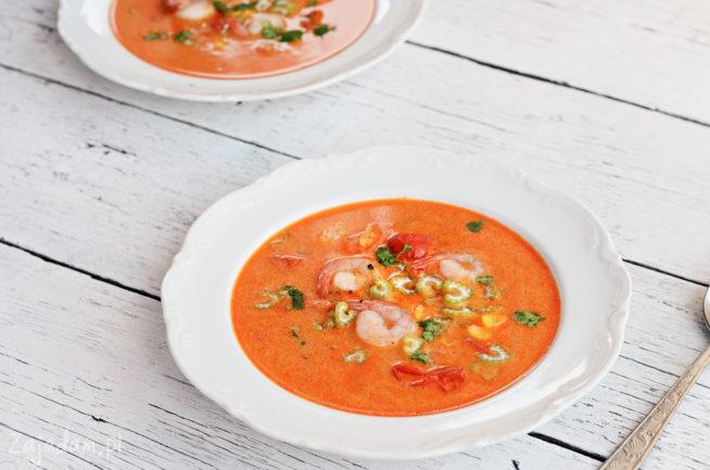 Zupa z krewetkami