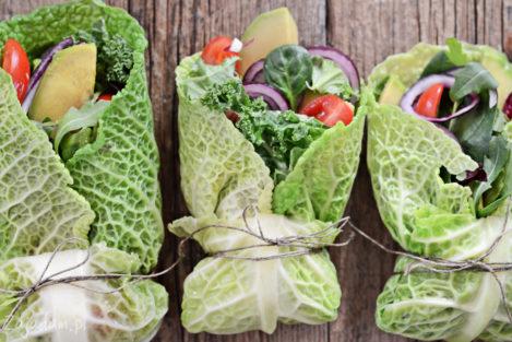 Wrapy z warzywami
