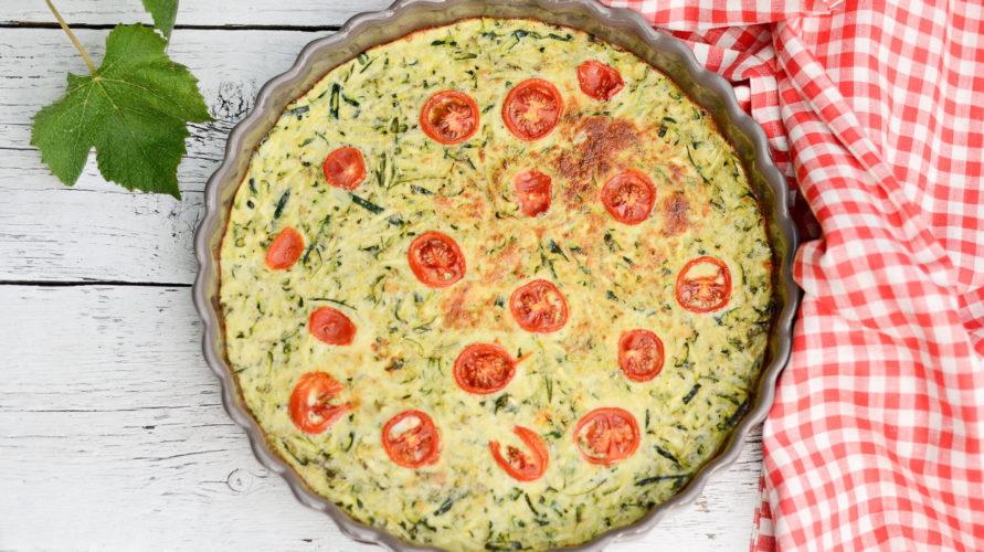 Zapiekany omlet z cukinią